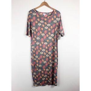 NWT Lularoe Julia Dress Floral 2XL